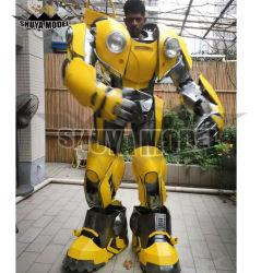 L'halloween transformateur cosplay costume costumes du robot de lumière LED grand format géant Robot costume pour la vente