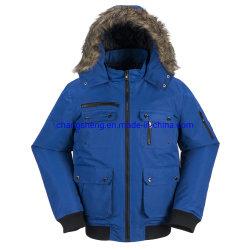 가짜 모피 두건 남자의 겨울에 의하여 덧대지는 폭격기 조종사 재킷 겉옷을%s 가진 유행 방수 폴리에스테 Taslon