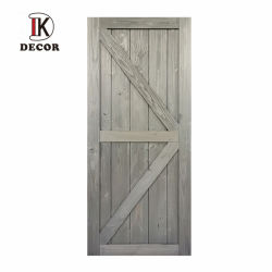 시골풍 단단한 소나무 문 훈장 목제 헛간문 K 작풍을 미끄러지는 실내 회색 침실 문