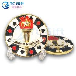 هدايا شعار بطاقة اللعب 3D الحرف المعدنية من صنع مخصص من Epoxy العملات المعدنية هدية تاريخية الثقافة التذكارية للكوليكتور
