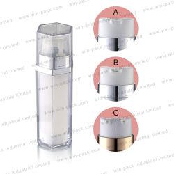 La Chine usine vide Winpack Skincare double chambre Lotion pour le tube en plastique bouteille spray cosmétiques Double Chambre Squeeze bouteille blanche le commerce de gros 20ml 30ml