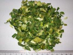 L'oignon déshydraté poireau Flake avec la couleur verte