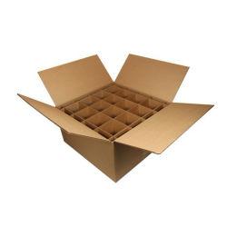 Vino de cartón ondulado caja de embalaje y la partición (FP7089)