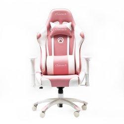 High Back Racing Style Executive PU Leather ergonomisch Racing Pink Spelstoel