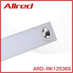 Lustre moderne du feu du tube à LED 2020 nouvelle conception produit Trimless plafond Profil en aluminium 36W croître Mural LED lumière linéaire encastré