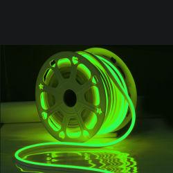La CC su ordinazione 12V 24V IP68 della corda del tubo SMD2835 del silicone impermeabilizza gli indicatori luminosi al neon flessibili della striscia LED