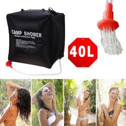 40L高容量のウォーターバッグのフォールドPVC屋外の携帯用シャワー袋のキャンプの太陽熱くするシャワー袋すばらしい旅行キット