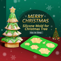 3D Christmas Tree Silicone Cake DIY Chocolate Baking Tray Ice قالب مكعبات