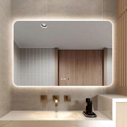 La decoración del hogar de lujo en el espejo interior largo muro de la luz del espejo retrovisor con Anti-Fog vestirse de notas