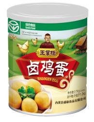 Marca Wangzhanggui Alimentos Verdes huevos halógenas