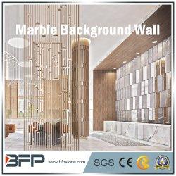 Populäre Bianco Carrara Marmorfliese für Hotel-Hintergrund-Wand