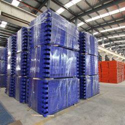 日本標準フレームは鋼鉄足場カスタムカラーによって塗られる韓国H足場フレームの足場の部品のステップ移動式石大工の足場梯子フレームを調節する