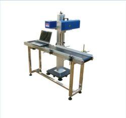 Flying Marquage laser à fibre/gravure Code de la coupe du métal de la machine pour les Joints en plastique Produits Marqueur/Graveur 20W