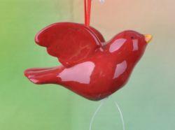 Christmas Ornaments belle pendaison en céramique rouge classique de la colombe de la décoration