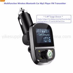 1,44-дюймовый ЖК-дисплей Bluetooth FM-трансмиттер Автомобильный MP3-плеер передатчика USB Bluetooth адаптер Bluetooth Aux передатчик для автомобиля
