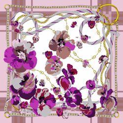 La courroie de fleur Fashion foulard en soie de haute qualité en 90X90