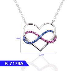 In het groot Kunstmatige Juwelen 925 van de Manier de Echte Tegenhanger van het Hart van het Zirkoon van het Zilver of van het Messing voor Vrouwen
