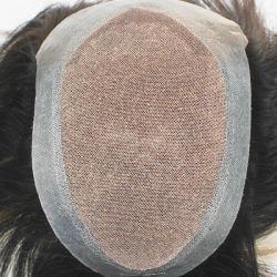人のための実質の人間の毛の染められたライト Blondd - 完全な Lace Toupee wigs