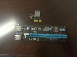 noni Scheda della colonna montante del generatore Btc per la scheda madre del minatore di Bitcoin, Pcie 1X - 16X adattatore, PCI-E PCI Express Pcie 1X alla scheda di conversione 16