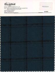 Fancy Poly tissu de laine, vérifier la conception, de vert noirâtre avec de petits jacquard avec fond noir des chèques pour tissus convenant