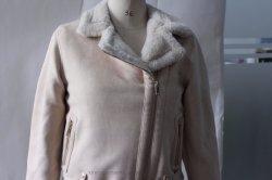 Veloursleder-Kleid-Mantel-beiläufige Umhüllung des Mädchens