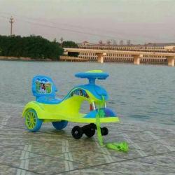 Ride sur jouet en plastique d'enfants Voiture de pivotement avec dossier
