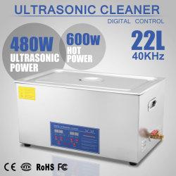 22L 1080W en acier inoxydable minuteur numérique nettoyeur ultrasonique de chauffage