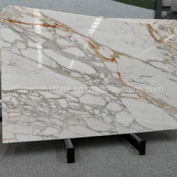Стандартный Calacatta Gold мрамора камня размер слоя