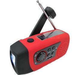 Emergency nachladbarer angeschaltener Solarradio des Kurbel-FM mit TF-Karte und MP3-Player für Arbeitsweg