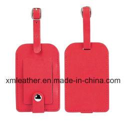 Nueva moda de cuero de PU Equipaje etiqueta de nombre para el equipaje