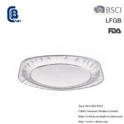 Одноразовые Take-Away овальной формы из алюминиевой фольги блюдо, пластину, посуды, оптовая упаковка