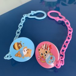 Bebê de plástico durável Pacifer dentição clip com design de animais fofos