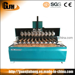 عمود دوران موجه CNC 10 مع محور 4 الدوار متعدد جهاز توجيه CNC يعمل على الخشب