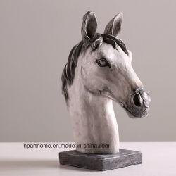 La figure de style de campagne de résine de cire figure la Statue de cheval pour la vente