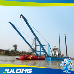 Draga di aspirazione della cesoia idraulica della Cina per il dragaggio della sabbia e la bonifica dei terreni nel lago/porta/mare river/