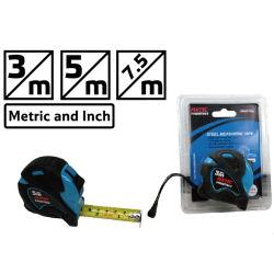 شريط قياس من الفولاذ 3 م مع زر تلقائي (FHSMT003)