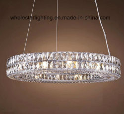 Aço inoxidável pingente de cristal Lâmpada (WHG-8180)