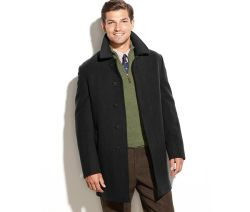 Latest Design Wool-Blended Solid Overcoat for Man
