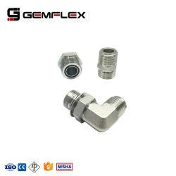 En acier inoxydable un adaptateur de flexible hydraulique haute pression