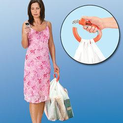 Sac shopping un voyage de poignée Grip Support de sac à provisions en plastique