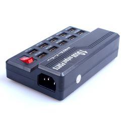 10 Adapter van de Wisselstroom van de Lader van de Muur van Havens USB de Multifunctionele