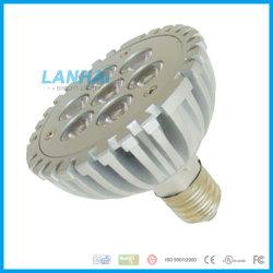 Haute puissance en aluminium moulé par30 la cuvette de lumière LED 7W E27 Spotlight