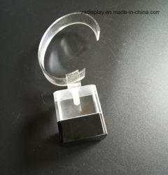Mensola acrilica di mostra della vigilanza del banco di mostra del Wristband singola