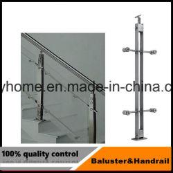 Baluster en acier inoxydable pour le système de rampe d'escalier de verre