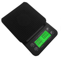 De draagbare LCD van de Hoge Precisie 3kg/0.1g Schaal van de Koffie van de Druppel met Tijdopnemer