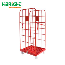 Contenitore piegante di plastica del rullo della lavanderia del supermercato di memoria del carico basso
