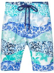 Moda Verão Sea-Printed homens os calções de banho