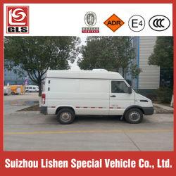 Iveco 1tons het KoelVervoer van de Geneeskunde van het Voedsel van de Vrachtwagen van de Ijskast van de Controle van de Diepvriezer 1.5tons Mini