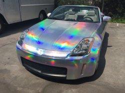 العديد من الألوان الصور ثلاثية الأبعاد ليزر كروم تغليف السيارات فينيل الهواء إطلاق الفيلم