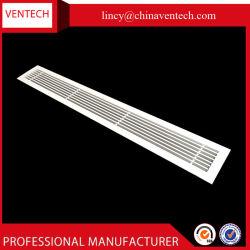 Griglia lineare di alluminio bianca personalizzata della barra per condizionamento d'aria